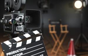 Behind the scenes filming set-up