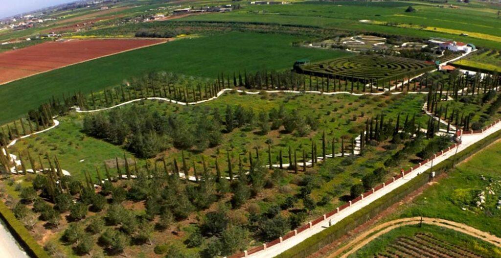 Bird's Eye View of CyHerbia Botanical Park